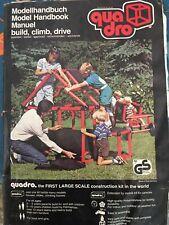"Quadro ""Universal"" 133 Element Modular Construction Kit Building Toy of Germany"