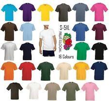 Men's Women's Fruit of the Loom Plain 100% Cotton Blank Tee Shirt Tshirt T-Shirt
