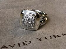 David Yurman Sterling Silver Albion Pave  Ring Size 8