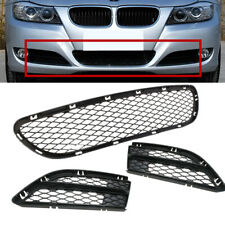 For BMW 3 Series LCI E90 E91 09-12 Fornt Bumper Lower Grille Grill Trim Set of 3
