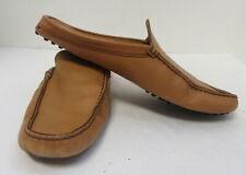 TOD'S Men's Tan Leather Loafer Slides Size 7