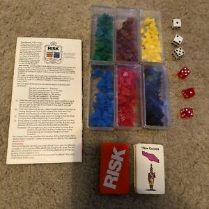 Vintage 1975 RISK World Conquest Board Game Replacement Pieces Parts Army Dice