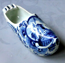 Vintage Hand Painted Ashtray ~ White/Blue Dutch Clog Shoe Holland