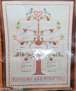 CREATIVE CIRCLE 1609 Family Tree Cross Stitch Kit Russell Bushee NEW 12x16