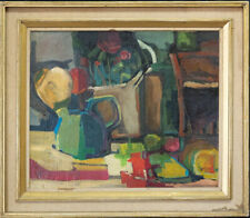 "Francoise Gilot (Born 1921) New York/California Artist Oil ""Tabletop Still Life"""