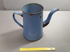 antigua cafetera esmaltado azul,para las flores french antigua