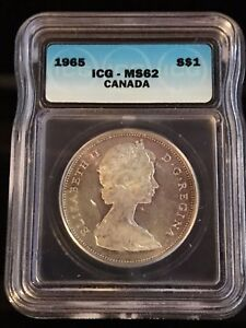 1965 Canadian $1 Coin ICG - MS62 (C316)