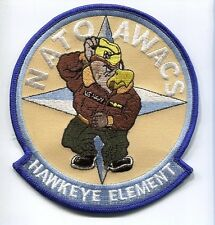 GRUMMAN E-2 HAWKEYE NATO AWACS US NAVY VAW Squadron Cruise Jacket Patch