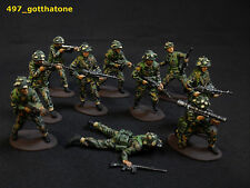 airfix 1/32 painted british modern infantry. falklands conflict, cold war era.