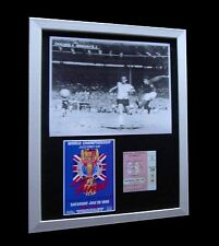 ENGLAND+GERMANY 1966 WORLD FINAL LTD Numbered FRAMED+EXPRESS GLOBAL SHIPPING