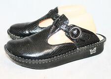 ALEGRIA Classic Burnish Snake Mules ALG-711 Women 10.5-411 Eur 42 Black Leather