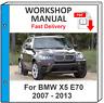 BMW X5 E70 2007 2008 2009 2010 2011 2012 2013 SERVICE REPAIR MANUAL WORKSHOP