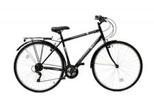 Aurai Trekker Mens Hybrid Unisex Heritage Bike Bicycle 700c Wheel 18Speed Black