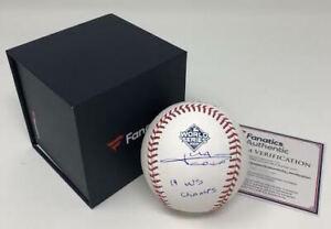 "JUAN SOTO Autographed Nationals ""19 WS Champs"" Official WS Baseball FANATICS"