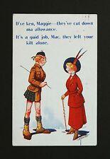 1916 WW1 Postcard Kilt Scottish Soldier Wedgewood Street Siddick Cumbria CA14