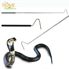 "39"" Collapsible Snake Reptile Grabber Catcher Stick Herp Safe Hook Handle Tool"