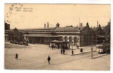 Gare Du Sud Gand - Zuider Statie Gent Photo Postcard 1929