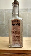 Vintage Medicine Hand Crafted Bottle, Roderic Anodyne with 3/4 Grain OPIUM