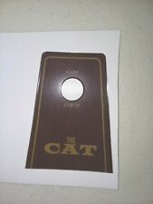 Cat minibike engine kill switch plate sticker - New Replica replaces vintage