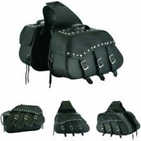 Motorcycle Leather Saddlebags Motorcycle Pannier Bags Motorbike Saddle 2 Bags