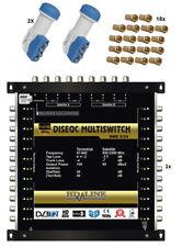 SET MULTISWITCH PRO 9/24 - relier 2 Satellites + 1 antenne / max 24 décodeurs TV