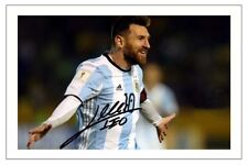 LIONEL MESSI ARGENTINA WORLD CUP 2018 SOCCER SIGNED AUTOGRAPH PHOTO PRINT