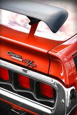 1971 Dodge Charger R/T Photo Art Print 13x19 426 HEMI Orange Poster Mopar 440