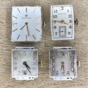 Men's Hamilton Wrist Watch Movements - 53, 980, 982, 17 Jewels