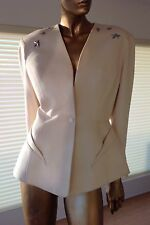 VINTAGE COLLECTOR THIERRY MUGLER 80'S JACKET BLAZER SILVER STARS FRANCE 42FR US8