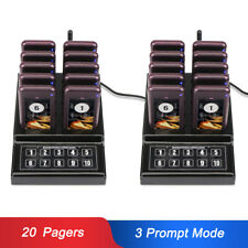 Restaurant Cafe Wireless Guest Paging Queuing System 433MHz Transmitter&20Pagers