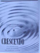 1m35 Vieille publicité Crescendo Lanvin