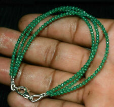 """Green Onyx 2mm Gemstone Rondelle Faceted Beads 5"""" 3 Layer Bracelet Jewelry DF628"""