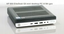HP 800 G5 EliteDesk mini desktop PC i5 9th gen 8GB RAM 256GB SSD 3502