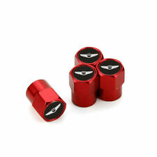 Red Tyre Tire Wheel Valve Stems Air Dust Covers Caps For Hyundai Genesis Coupe