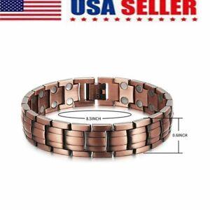 Solid Copper Arthritis Magnetic Germanium Bracelet Men Women US STOCK