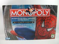 Spiderrman Monopoly Board Game - Playable - Nearly complete - Missing 1 Card