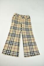 "BURBERRY: Beige & ""Nova Check"" Wool Twill Pants/Trousers, Sz 6Y"