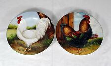 Oneida Sakura David Carter Brown On the Farm Chicken Hen Rooster Salad Plates