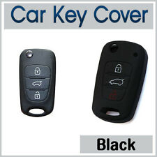 Fits HYUNDAI i10 i20 i30 IX35 Elantra Accent CAR KEY COVER SILICONE CASE - BLACK