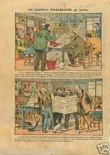 Caricature de la Depêche de Toulouse Bureau de la Rédaction  1922 ILLUSTRATION