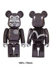 EVISU BE@RBRICK 100% Black-plated Figure Bearbrick Very Limited Sold Out Rare HQ