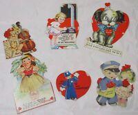 Vintage Valentines Mechanical Hula Girl Cards Lot