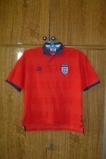 England Umbro Football Shirt Away 1999/2000/2001 Red Boys Size Height 140-146 cm