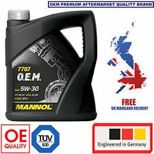 5L MANNOL 7707 OEM FORD VOLVO 5W-30 SYNTHETIC ENGINE OIL ACEA A5 B5 WSS-M2C913-C