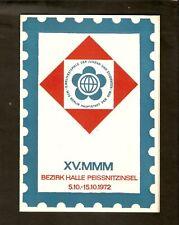 DDR - Gedenktblatt, XV.MMM Bezirk Halle Peissnitzinsel
