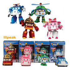 Robocar Poli Ambe Roy Helly 4pcs Lot Transformer Robot Educational Set Gifts Toy