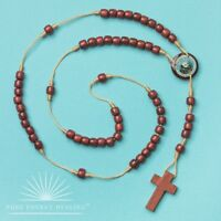 Wooden Dom Inacio Rosary Beads With Wooden Cross Casa Brazil