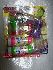 BUBBLE Blowing Gun machine Blower Led light and sound child toy  2x soap water