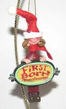 Kurt Adler Mom's Favorite First Born Girl Ornament Christmas