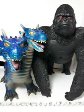 BIG SIZE plastic action figure toy GORILLA & DRAGON king kong monkey ape 2 heads